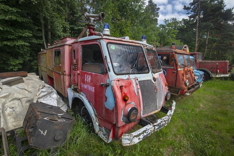 Old firetrucks in Poland royalty free stock photography