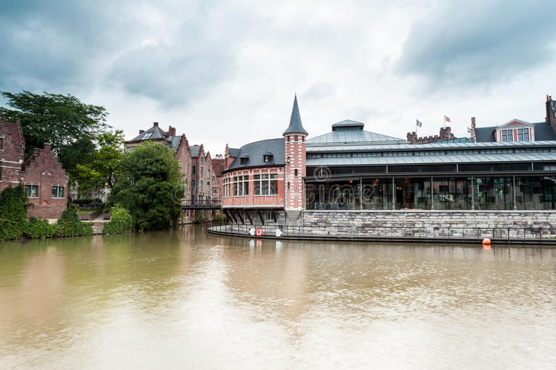 Old fish market. This old fish market stay in the hart of the city of Gent royalty free stock images