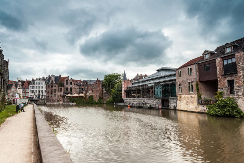 Old fish market. This old fish market stay in the hart of the city of Gent royalty free stock photo