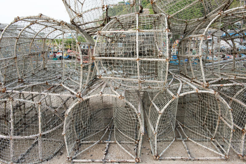 Old fish trap. In fishing Village royalty free stock image