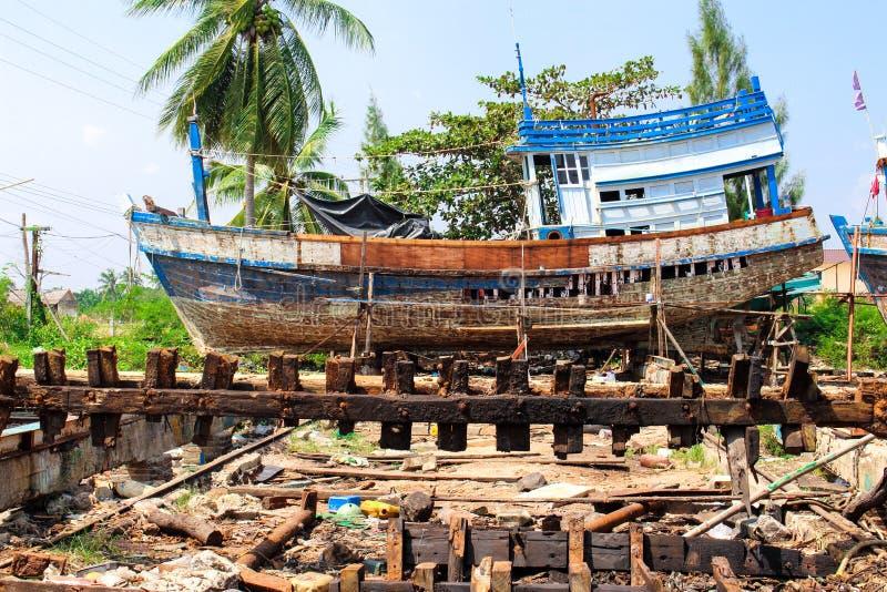 Old Fisheries Shipyard In Thasala Nakhon Si Thammarat