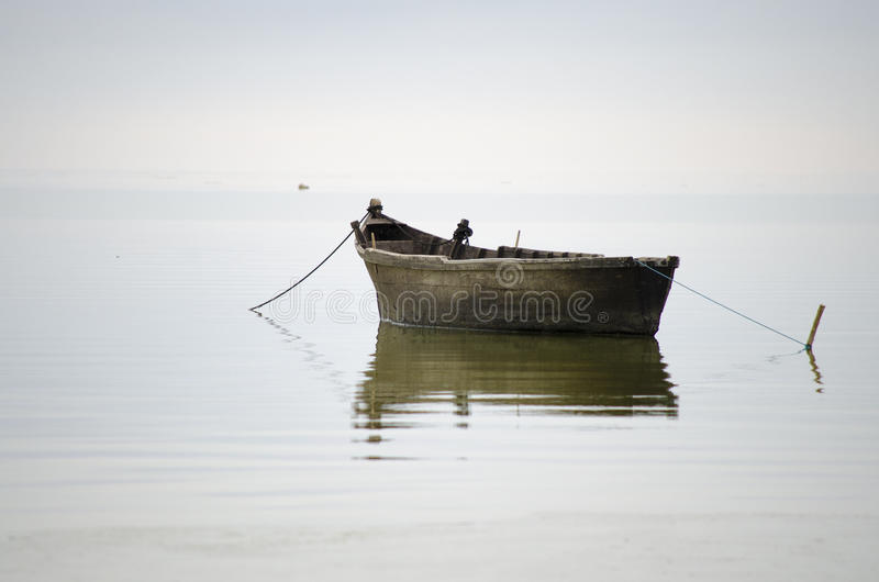 Old fisherman boat royalty free stock photography