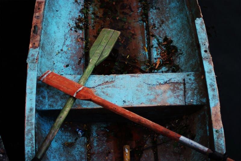 Old fisherman boat stock photo