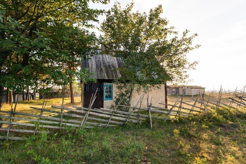 Old fisherman huts in Kovik near Katthammarsvik Gotland royalty free stock photography