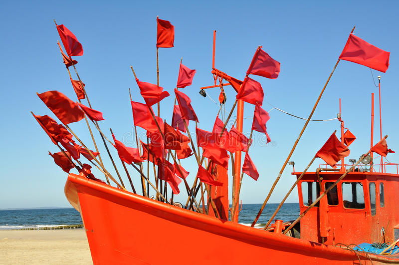Old, fishing, boat, royalty free stock images
