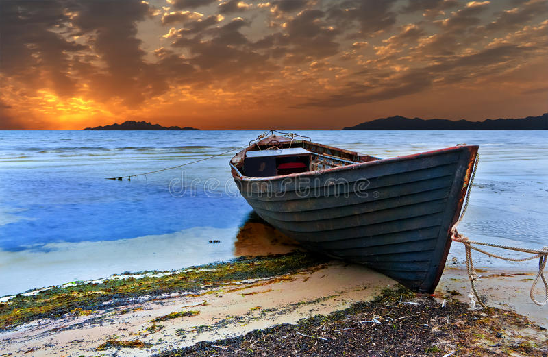Old fishing boat royalty free stock photo