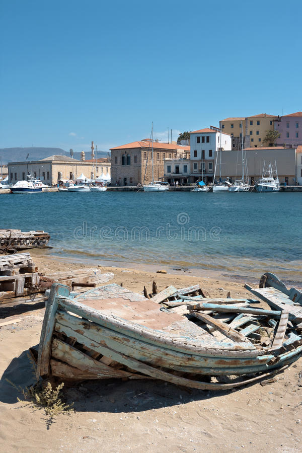 Download Old Fishing Boat. Chania, Crete, Greece Stock Images - Image: 15664264