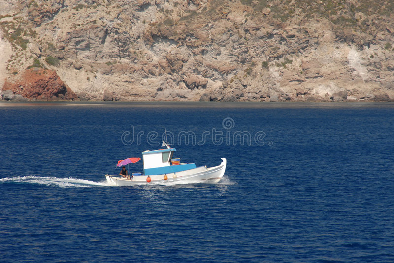 Old fishing-boat at Greece