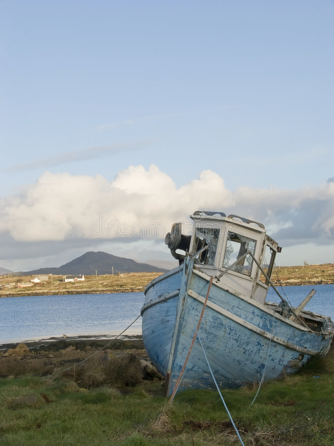 Free Old Fishing Boat In Ireland Stock Images - 4554554
