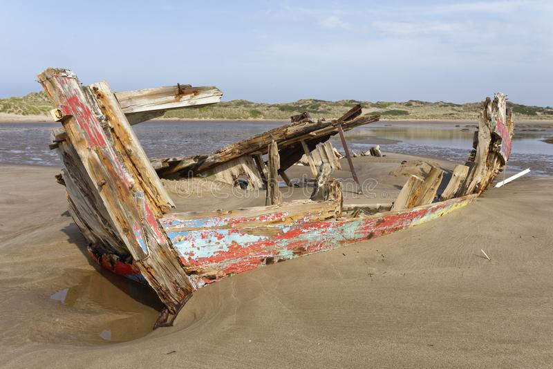 Old Fishing Boat Wreck royalty free stock photography