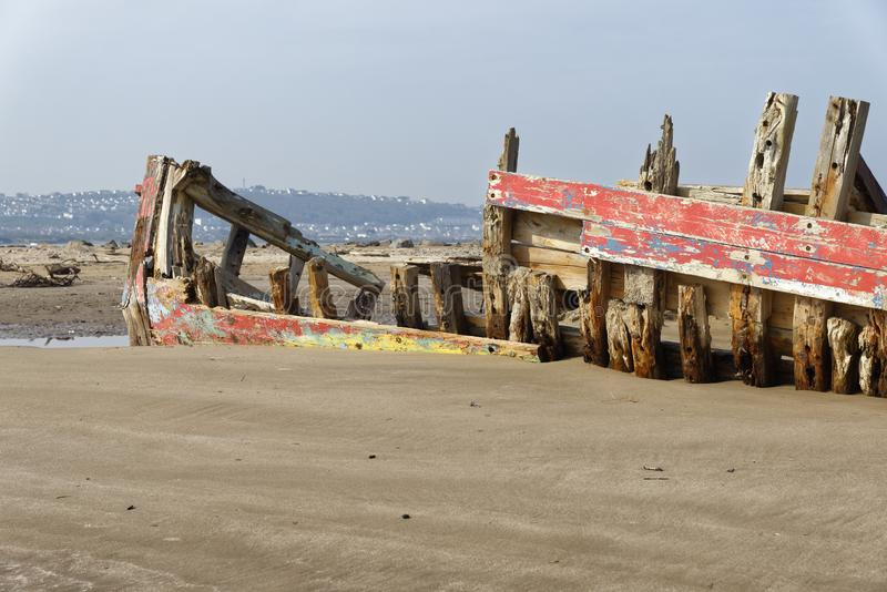 Old Fishing Boat Wreck stock photo