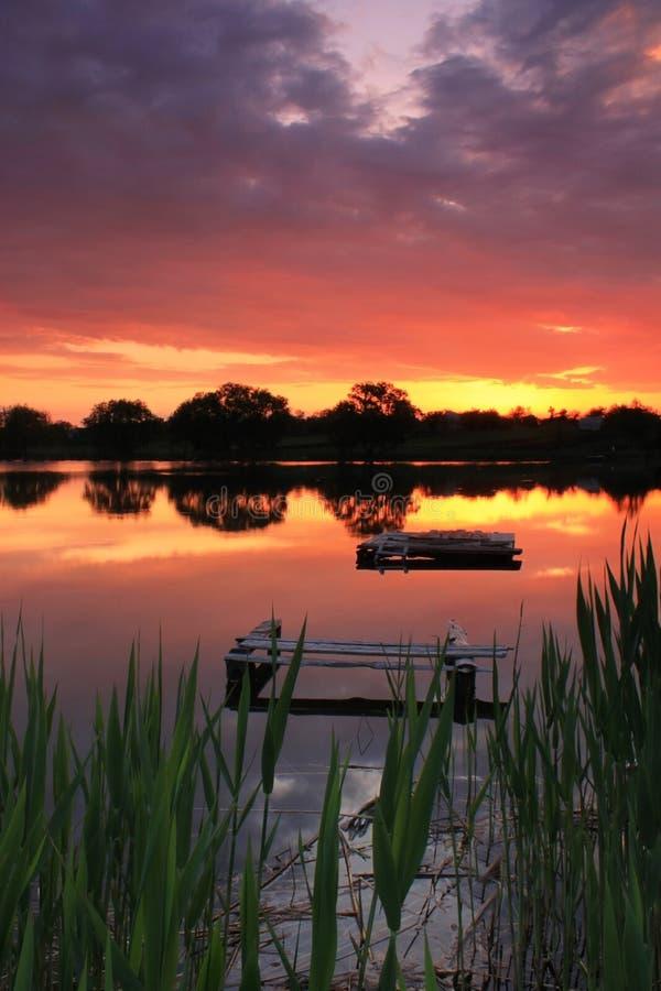 Download Old Fishing Bridge On The Lake Stock Photo - Image: 18709340