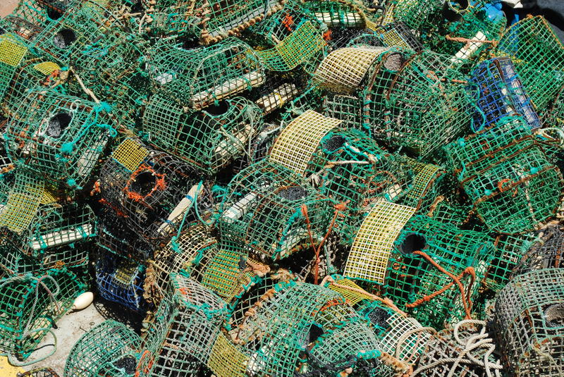 Download Old Fishing Cages In The Port Of Cascais, Portugal Stock Photo - Image: 10571886