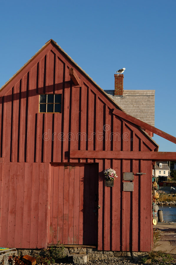 Old Fishing Shack Motif Number One back side stock photos
