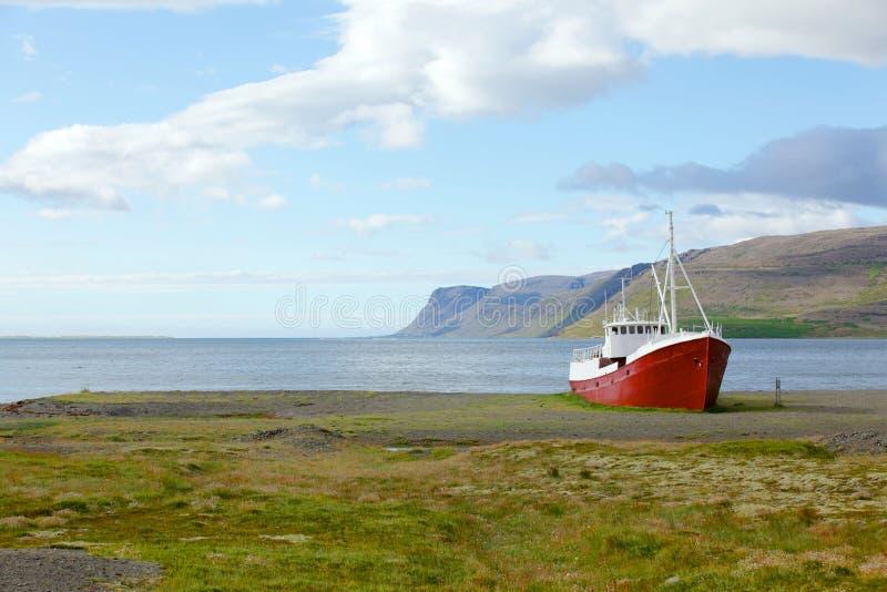 Old fishing vessel stock photo