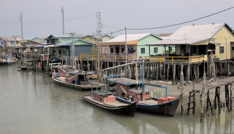 Download Old Fishing Village stock image. Image of house, river - 2738837