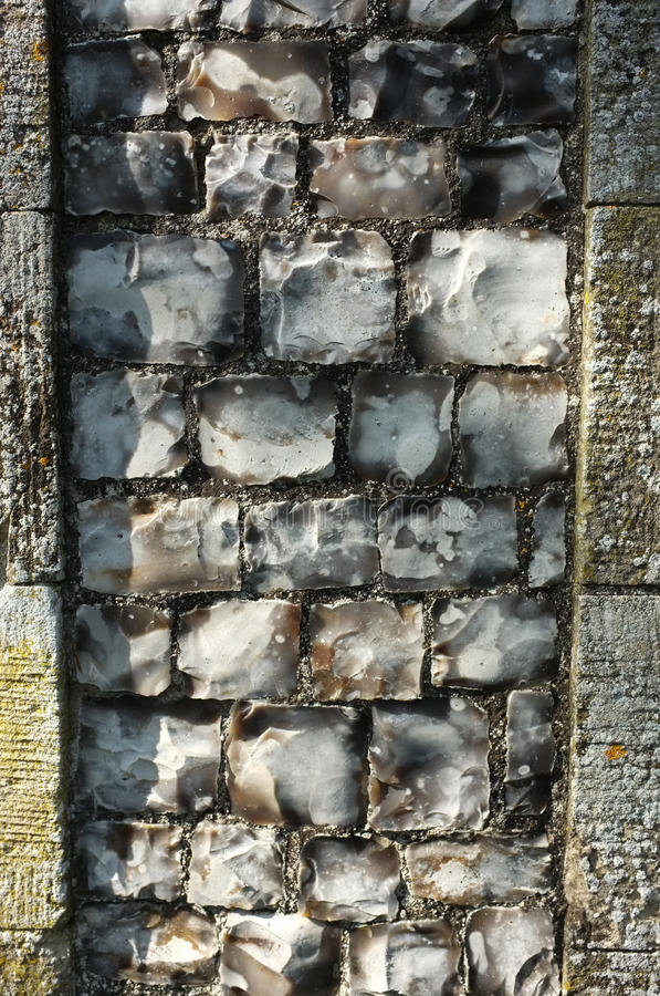 Download Old Flint Wall detail stock image. Image of build, brick - 31351359