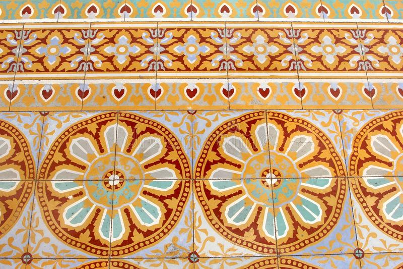 Old Floor Tiles Patterns Royal Palace, Phnom Penh Stock Photo ...