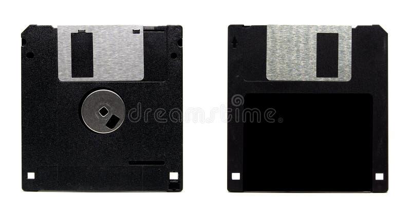Old floppy disc. Isolated on white background stock photo