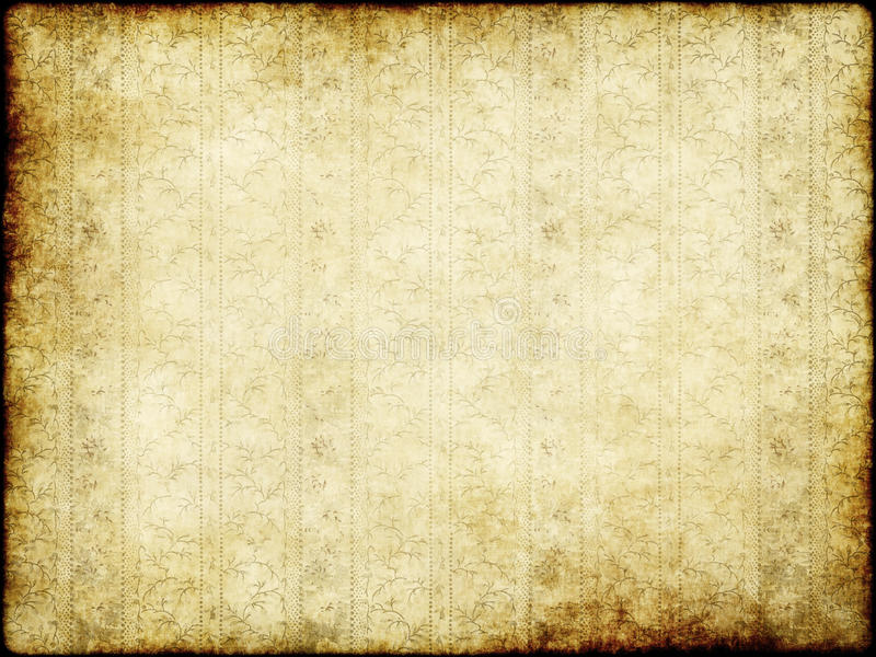 Old floral parchment royalty free stock photos