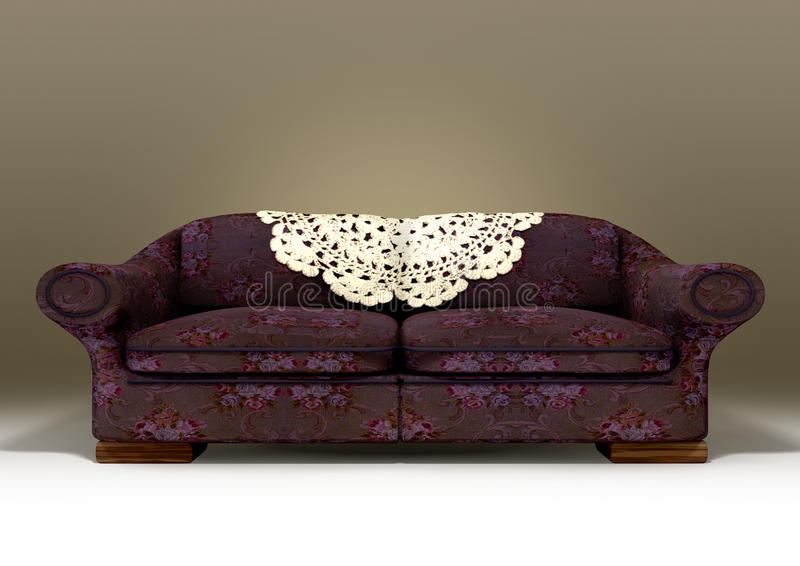 Download Old Floral Sofa Stock Illustration. Illustration Of Couch    26337440