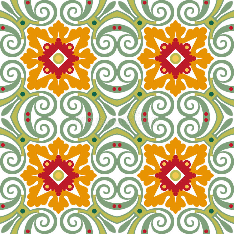 Old Floral Tiles Stock Image
