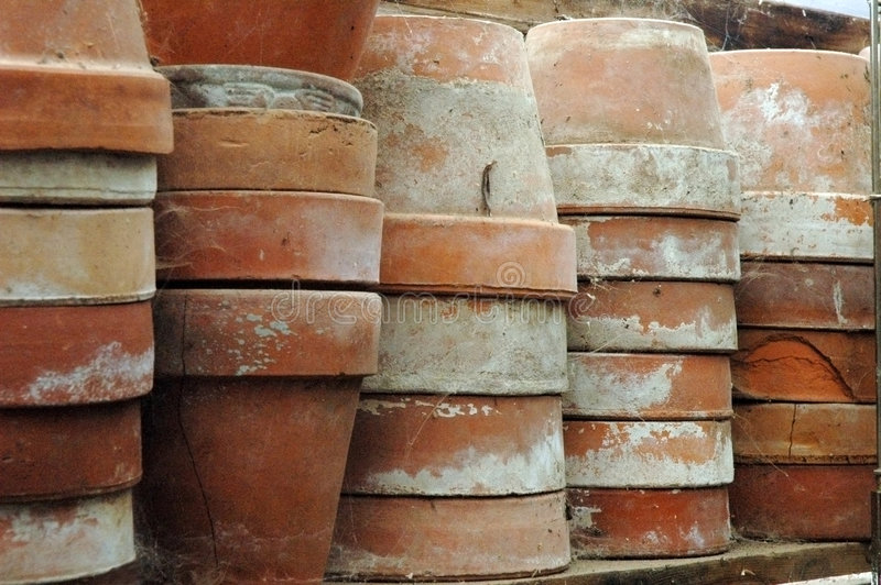 Old Flower Pots royalty free stock photography
