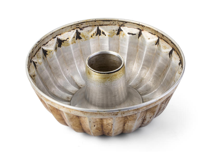 Old fluted tube baking pan royalty free stock photography