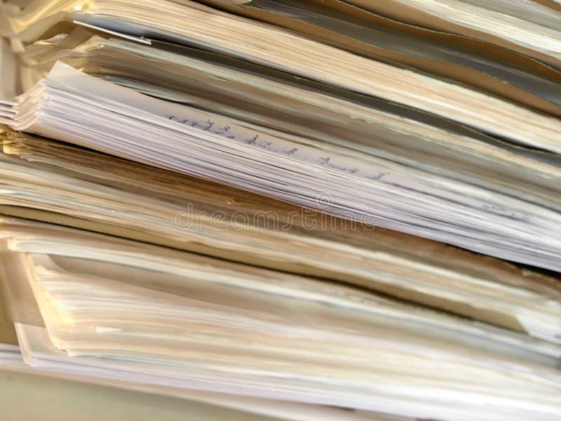 Old folder in italian office stock photo