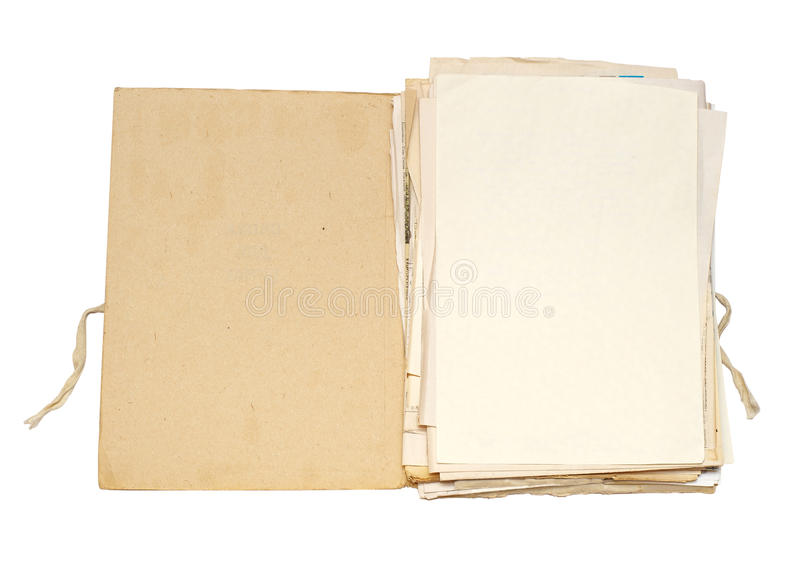 Download Old folder with papers stock image. Image of pack, files - 20035033