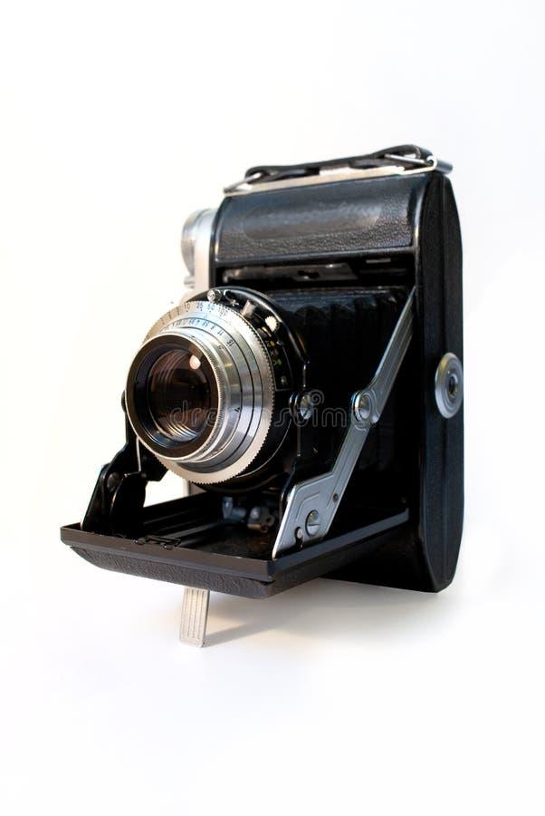 Old folding camera stock image