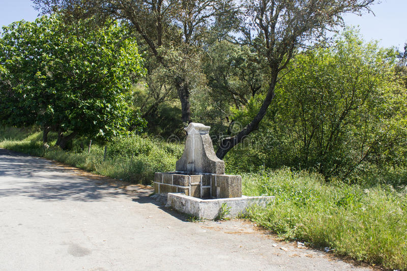 Download Old Fontain On The Side On An Old Road In Beira Baixa Province, Castelo Branco, Portugal Stock Image - Image: 55232627