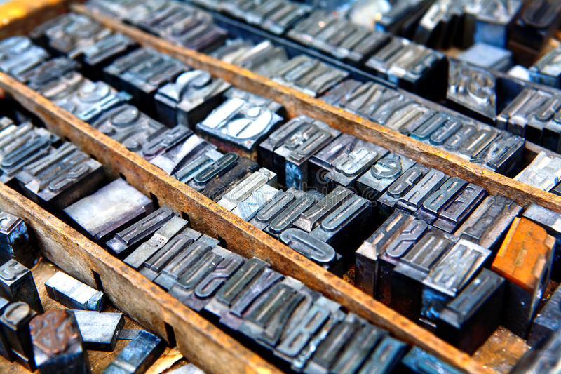 Old Fonts Royalty Free Stock Images