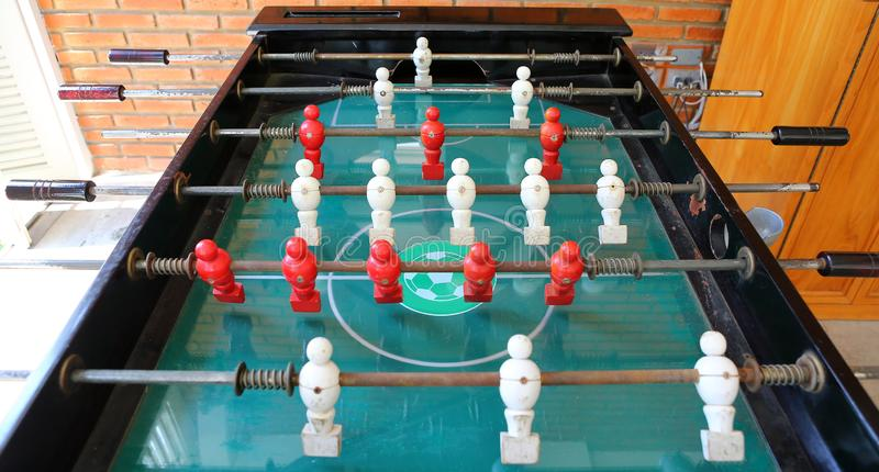 Old football table, soccer table.  royalty free stock image