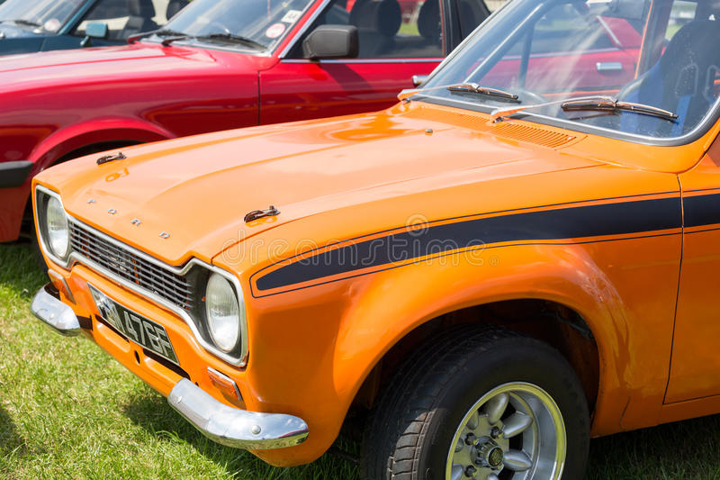 Old ford escort mexico car royalty free stock images