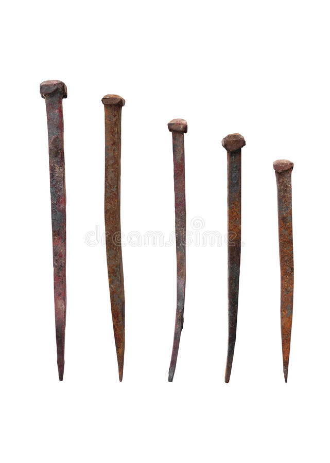 Free Old Forged Nails With Rusty Stock Photos - 18683703