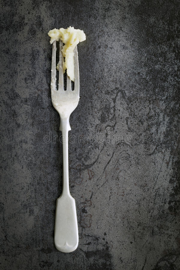 Free Old Fork With Mashed Potato Stock Photo - 40655140
