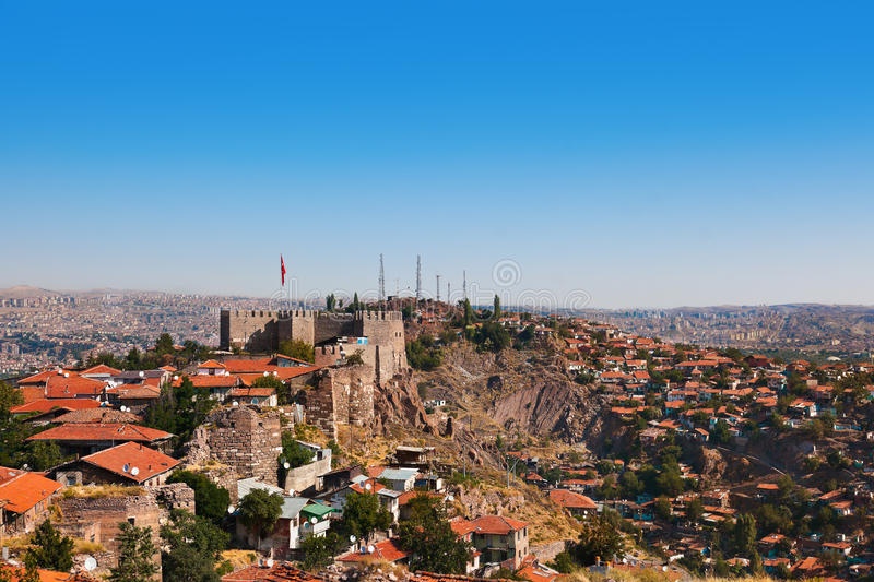 Old fort in Ankara Turkey. Architecture travel background stock photo
