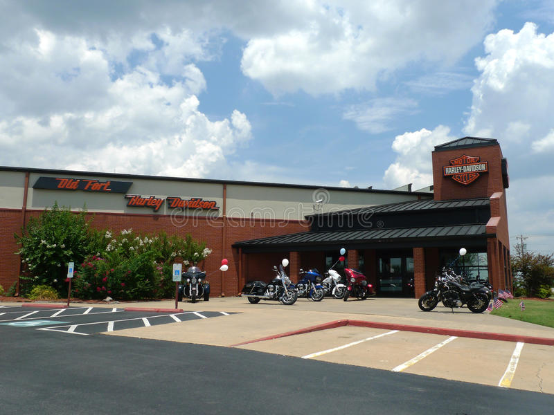 Old Fort Harley Davidson Retail Store Exterior royalty free stock photo