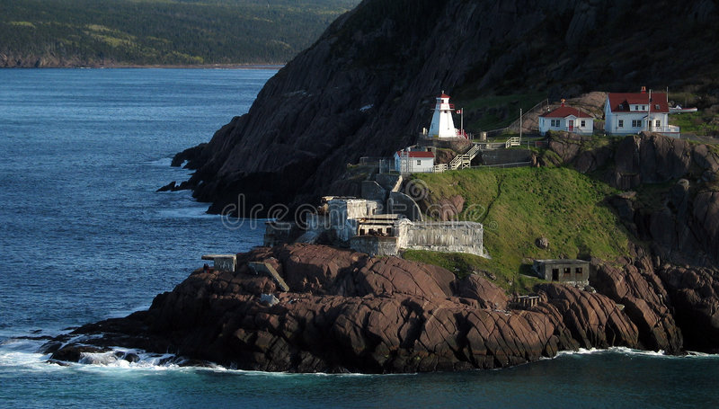 Old Fort with Lighthouse stock images