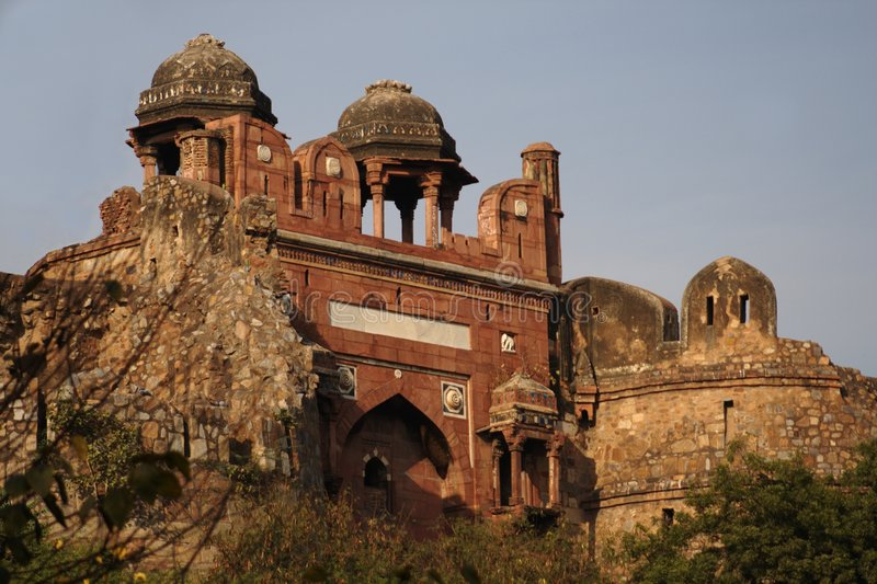 Download Old Fort, New Delhi stock image. Image of building, heritage - 4018799