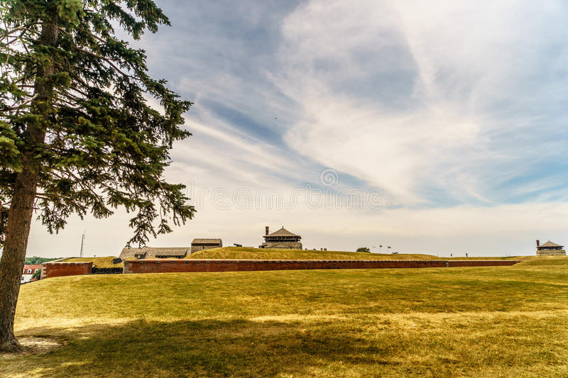 Old Fort Niagara. At Summer stock photography