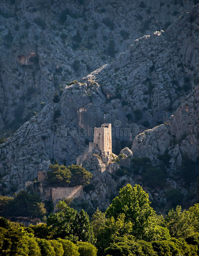Free Old Fort On Mountain At Omis Stock Image - 68249701