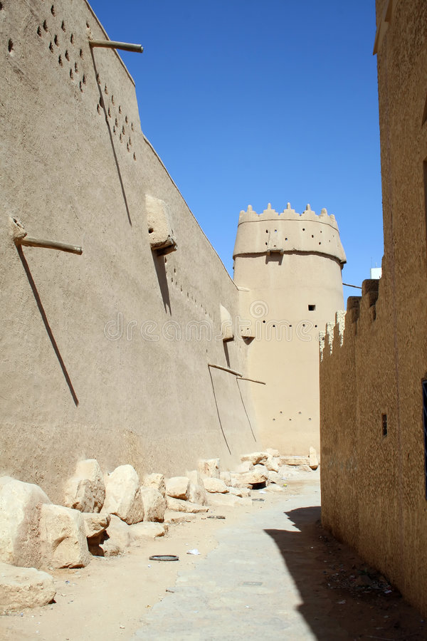 Download Old fort in Riyadh stock image. Image of script, arabic - 5496243