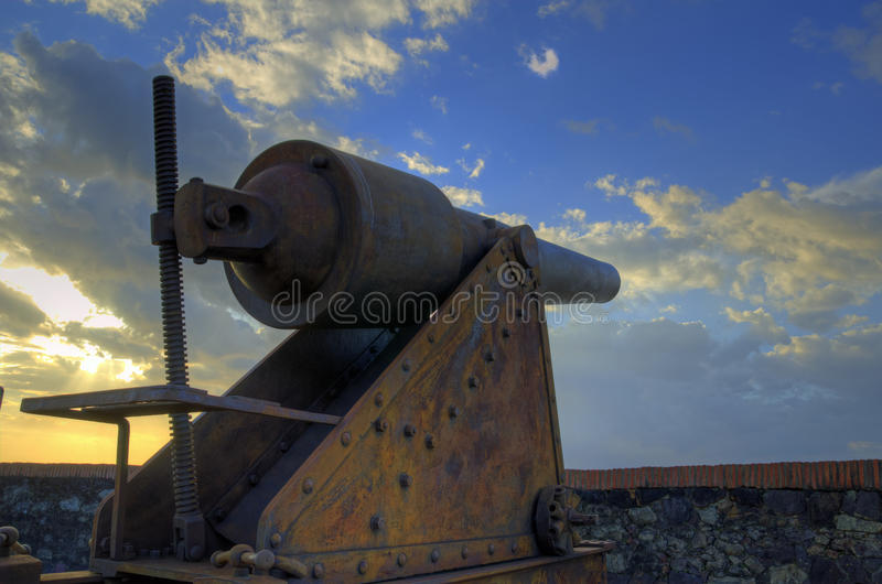Old fort's cannon royalty free stock photos