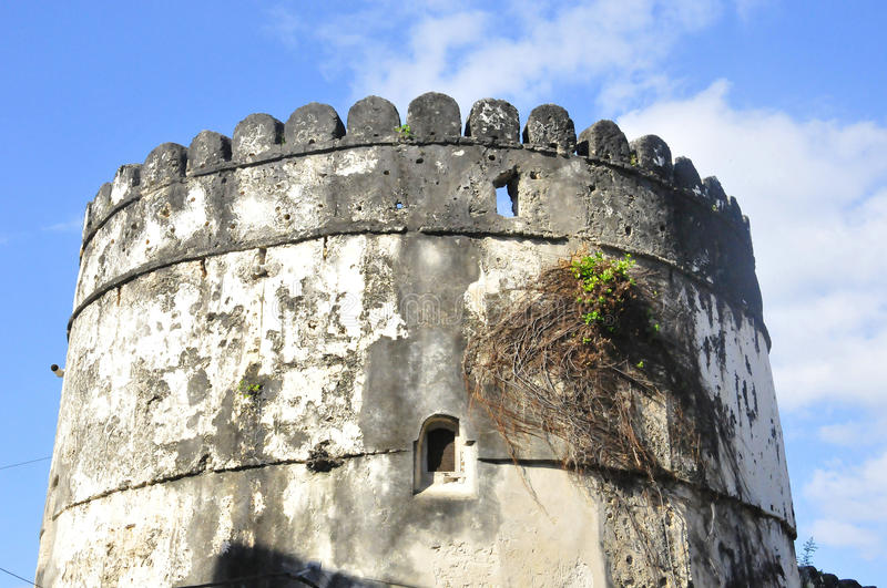 The Old Fort. (Swahili: Ngome Kongwe), also known as the Arab Fort and by other names, is a fortification located in Stone Town, the capital of Zanzibar royalty free stock photo
