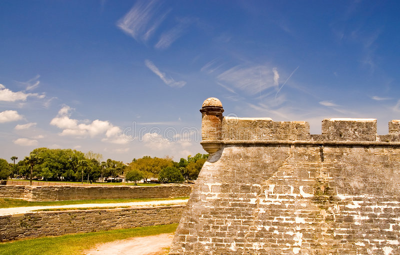 Download Old fort wall and dry moat stock photo. Image of wall - 2278430