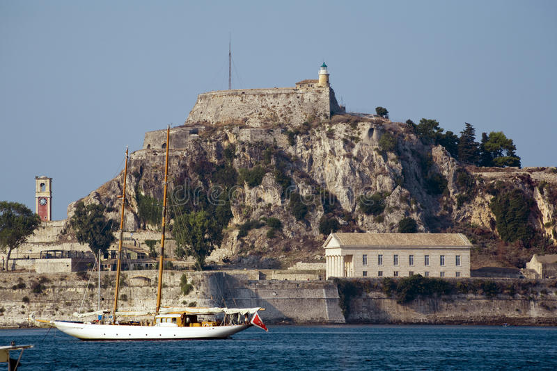 Download Old fortress at corfu stock image. Image of rock, temple - 11312967