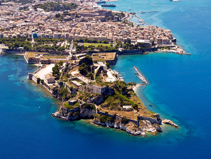 Download Old Fortress, Corfu, Aerial View Stock Image - Image: 7719937