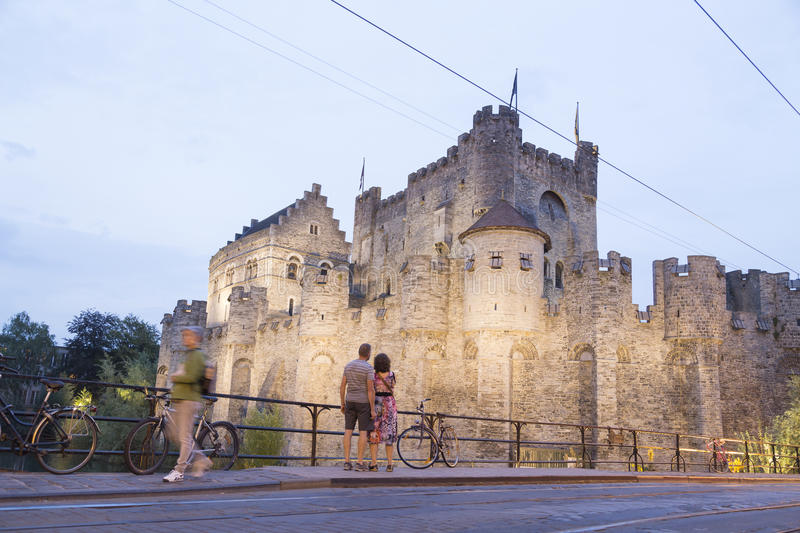 Old fortress in Ghent, Belgium royalty free stock photography